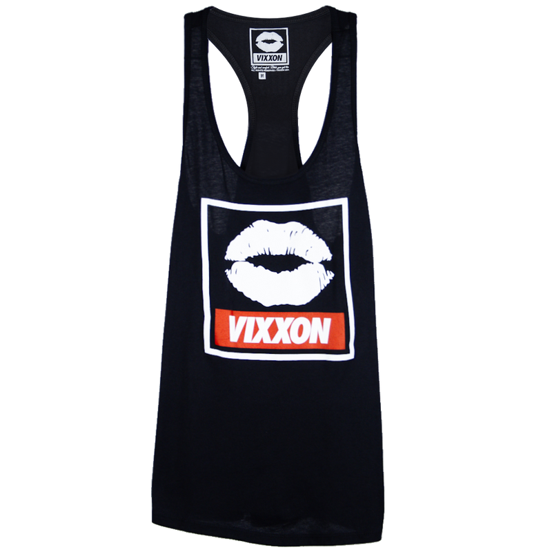 LIPS VIXXON TANK BLACK - WOMENS