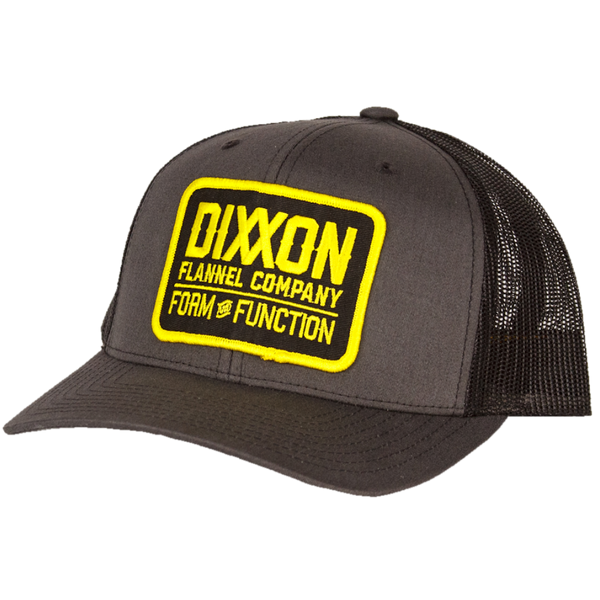CLASSIC YELLOW TRUCKER HAT CHARCOAL/BLACK