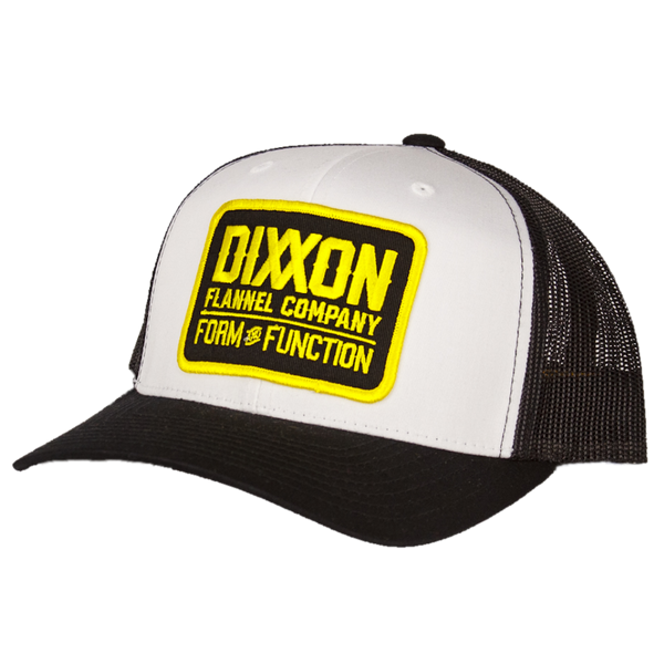 CLASSIC YELLOW TRUCKER HAT WHITE/BLACK