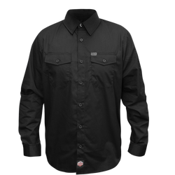WORKFORCE LONG SLEEVE BUTTON UP BLACK - MENS
