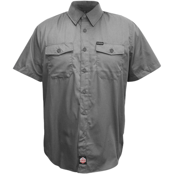WORKFORCE SHORT SLEEVE BUTTON UP CHARCOAL - MENS