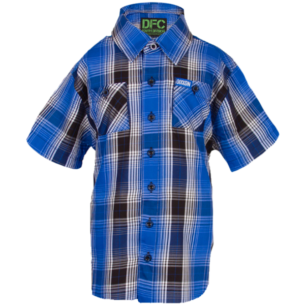 BANZAI BAMBOO SHORT SLEEVE BUTTON UP - YOUTH