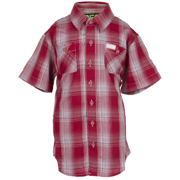 SYRAH BAMBOO SHORT SLEEVE BUTTON UP - YOUTH