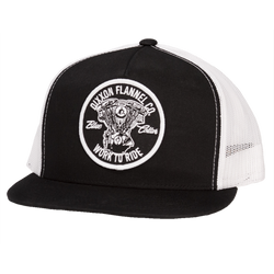BLUE COLLAR TRUCKER HAT BLACK/WHITE