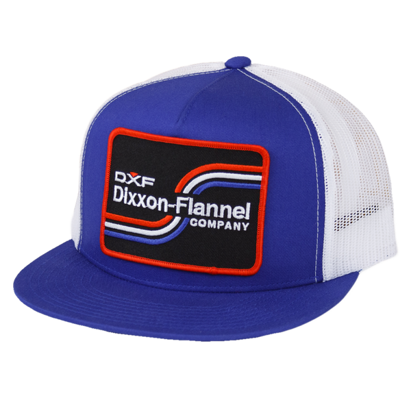 DXF TRUCKER HAT BLUE/WHITE