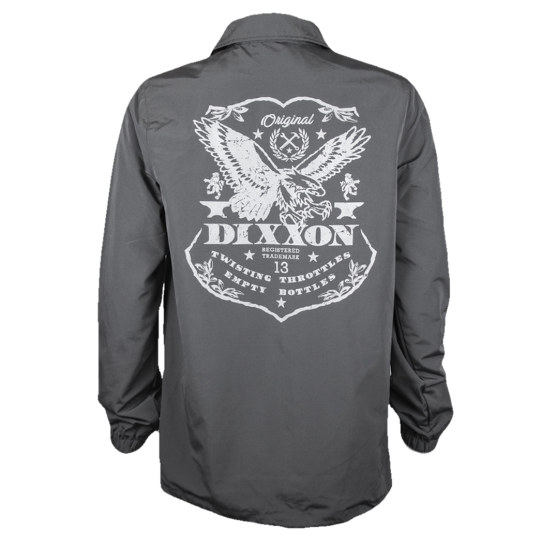 ETCHED COACHES JACKET GREY - MENS