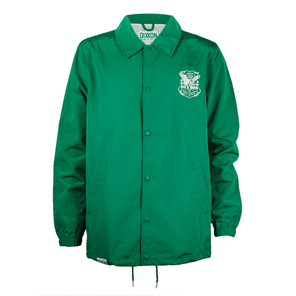 ETCHED COACHES JACKET KELLY GREEN - MENS