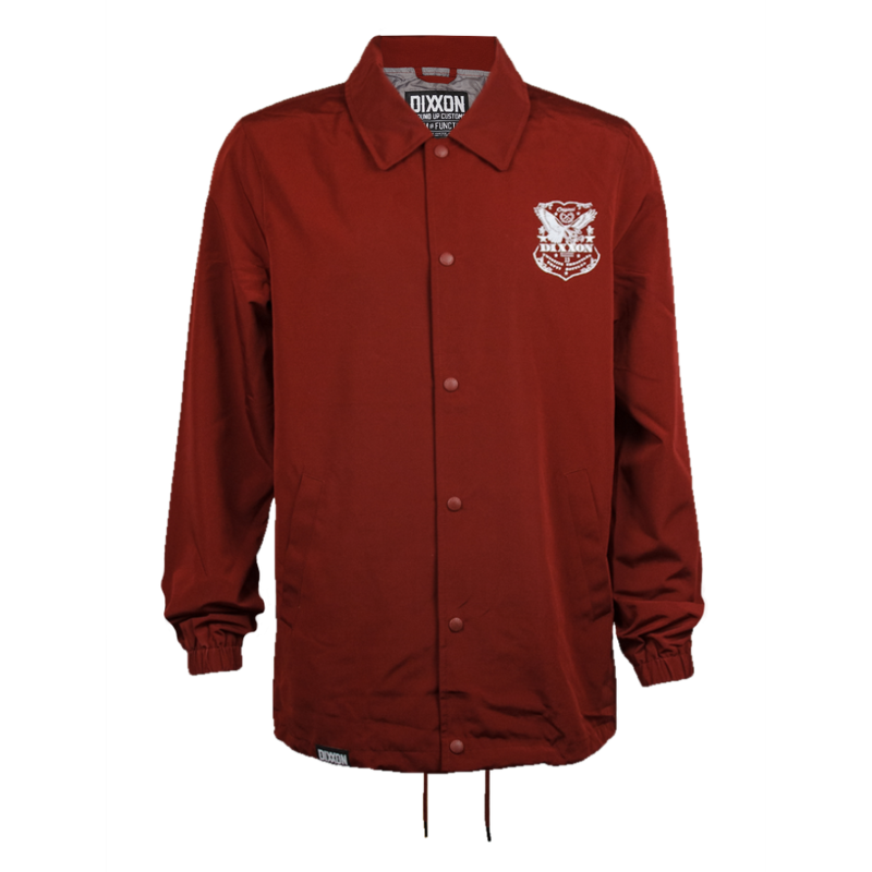 ETCHED COACHES JACKET MAROON - MENS