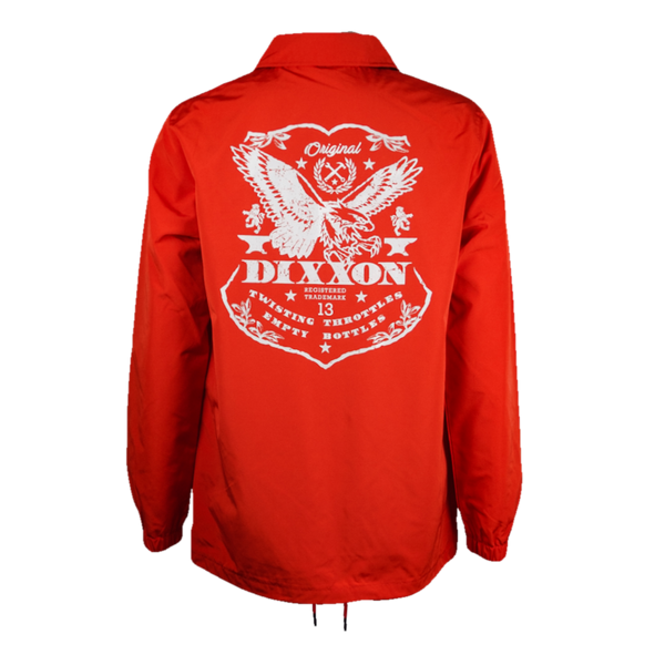 ETCHED COACHES JACKET RED - MENS