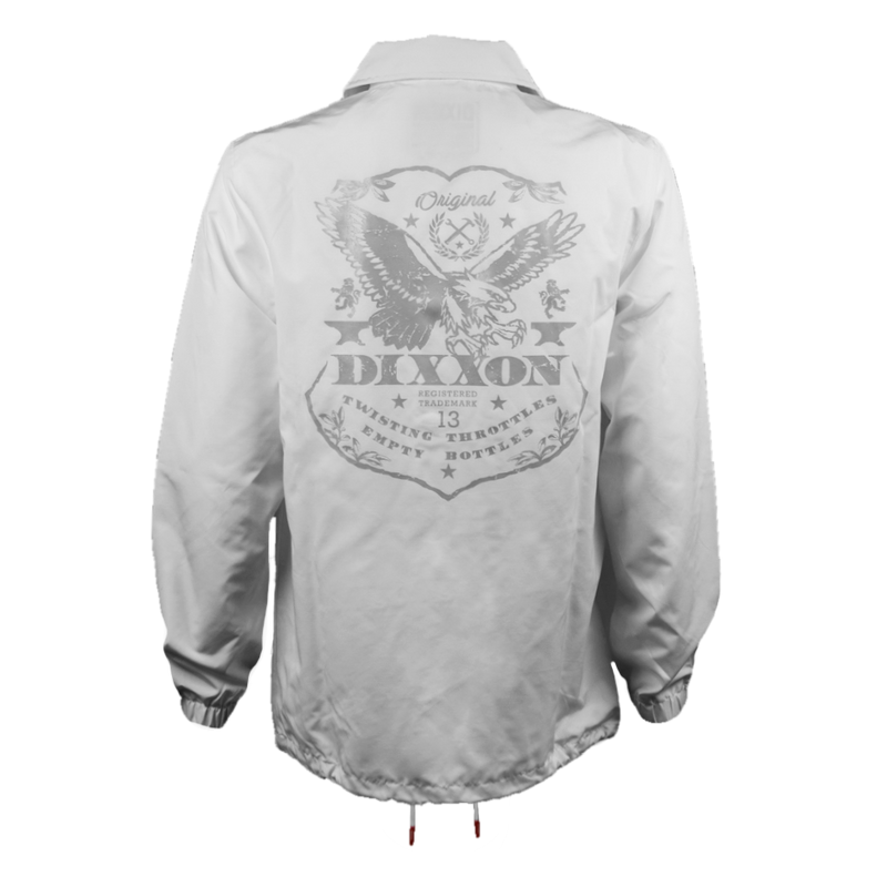 ETCHED COACHES JACKET WHITE - MENS