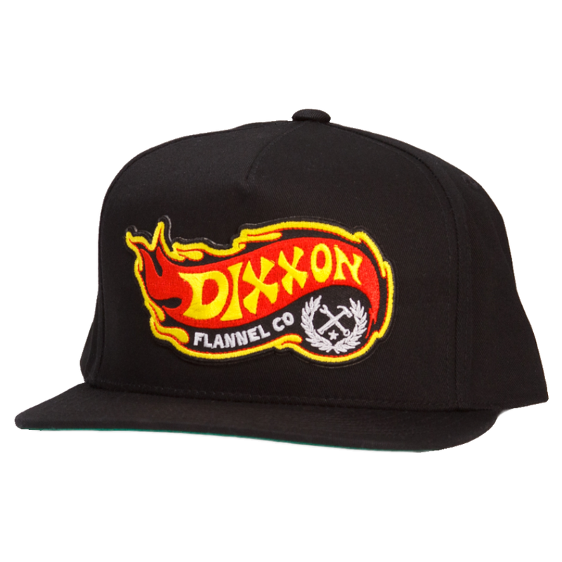 FLAME SNAPBACK HAT BLACK