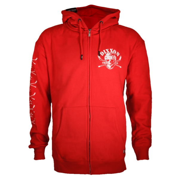 HOCKEY ZIP HOODIE RED - MENS