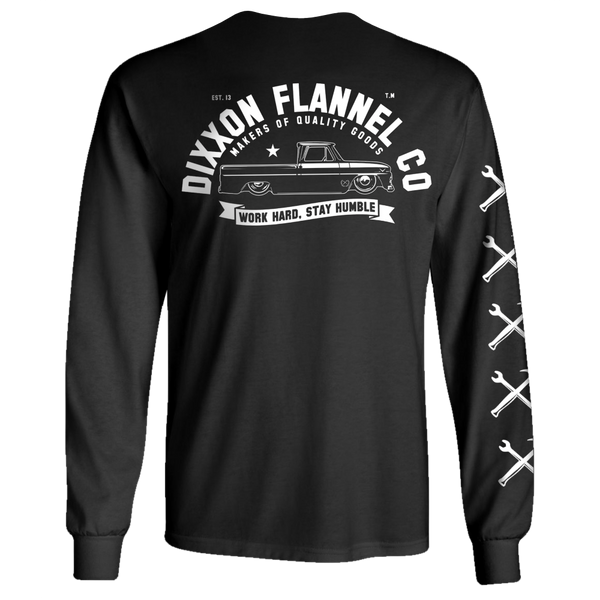 GARAGE LONGSLEEVE T-SHIRT BLACK - MENS