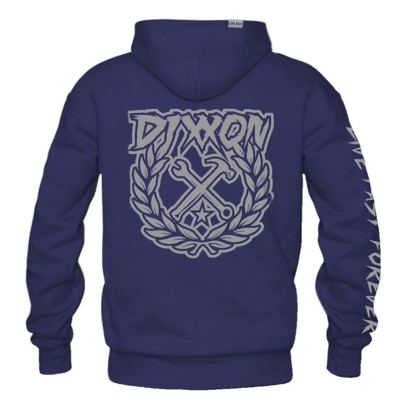 PARTY CREST ZIP HOODIE NAVY - MENS