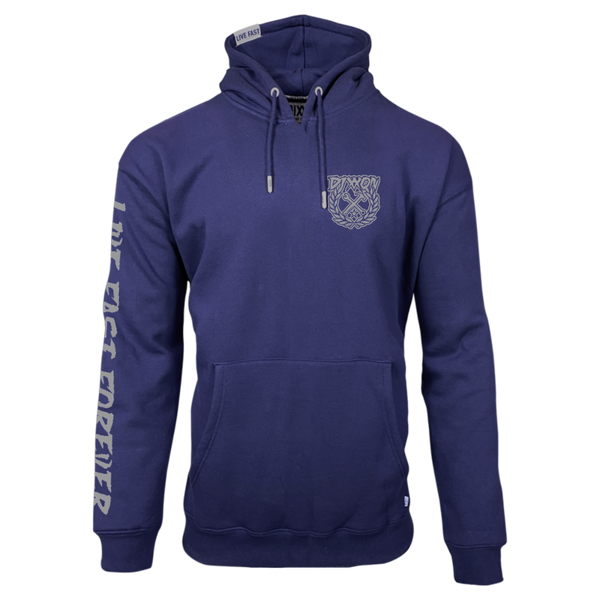 PARTY CREST HOODIE NAVY - MENS
