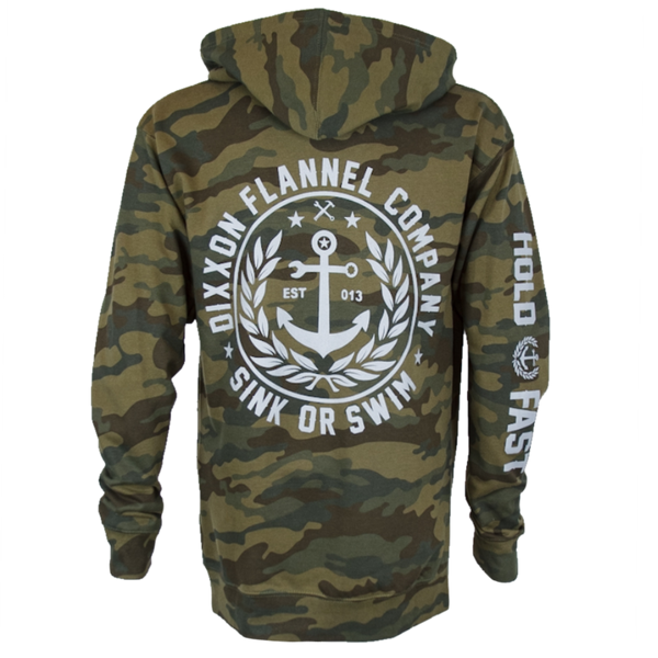 SALTY CREST HOODIE FOREST CAMO - MENS