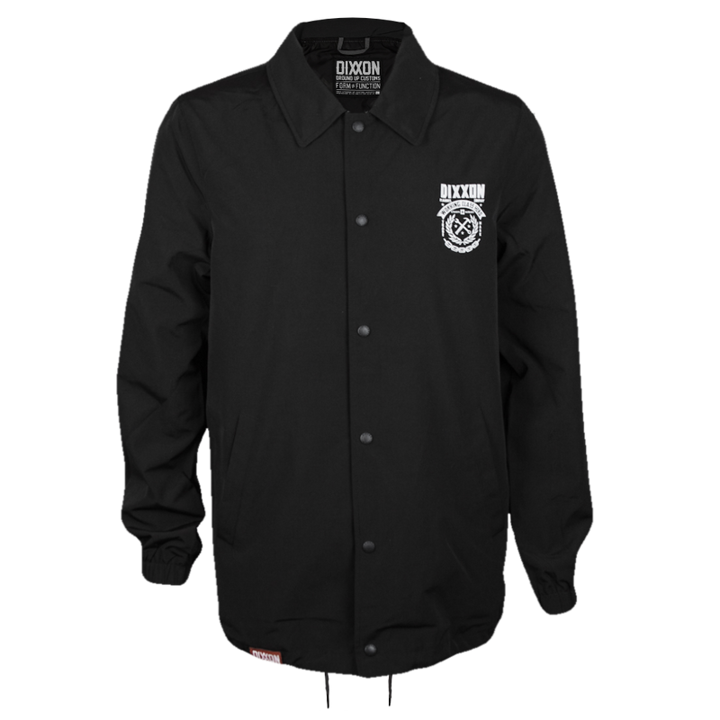 WELD COACHES JACKET BLACK - MENS