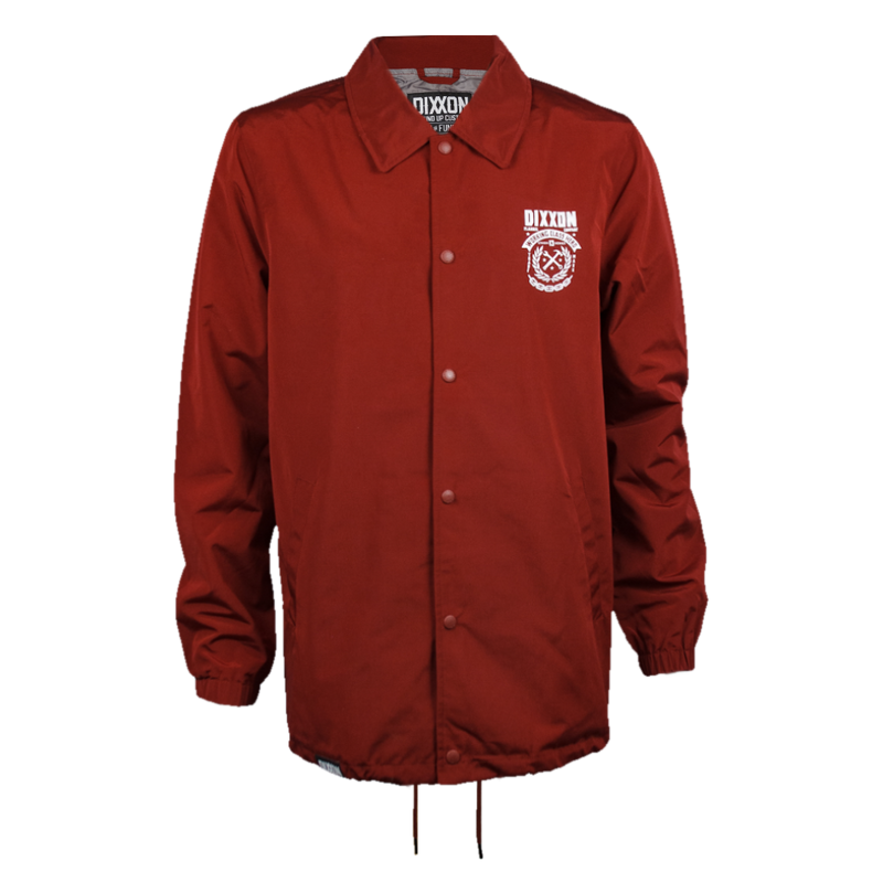 WELD COACHES JACKET MAROON - MENS