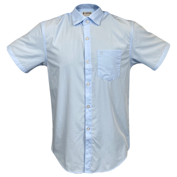 BAMBOO SHORT SLEEVE BUTTON UP LIGHT BLUE 2.0 - MENS