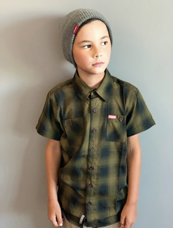CORPS BAMBOO SHORT SLEEVE BUTTON UP - YOUTH