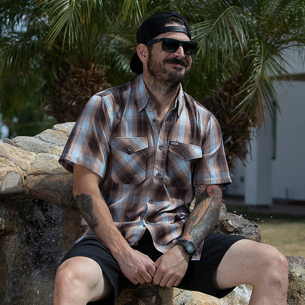 PISMO BAMBOO SHORT SLEEVE BUTTON UP - MENS