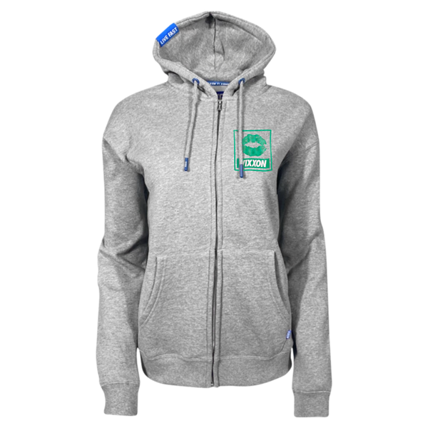 SPLIFF QUEEN ZIP HOODIE HEATHER GREY - WOMENS
