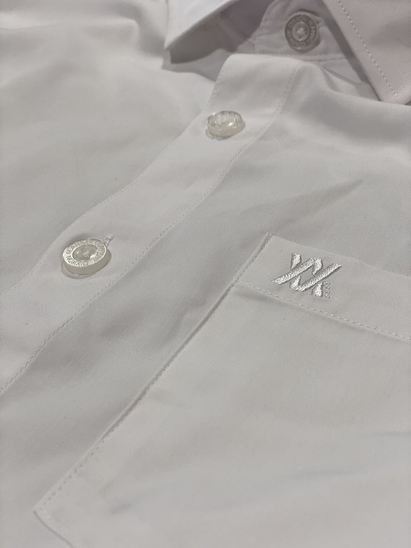 BAMBOO SHORT SLEEVE BUTTON UP WHITE 2.0 - MENS