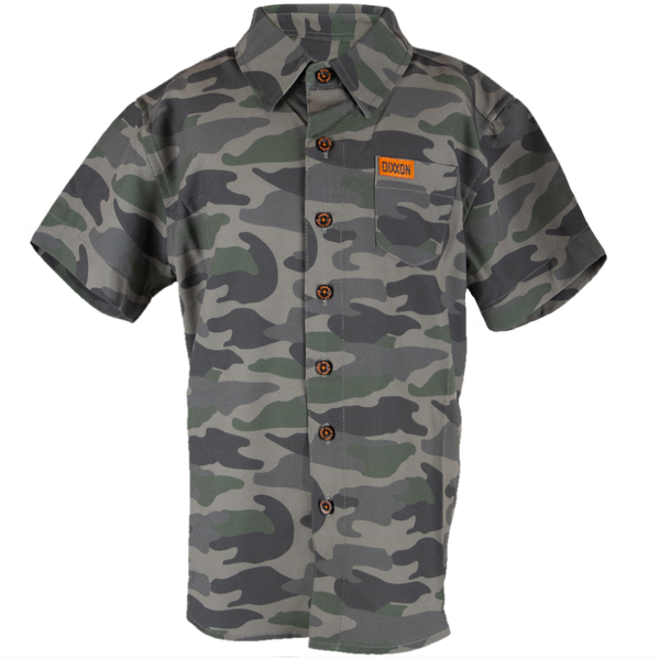 FREEBIRD SHORT SLEEVE BUTTON UP - YOUTH