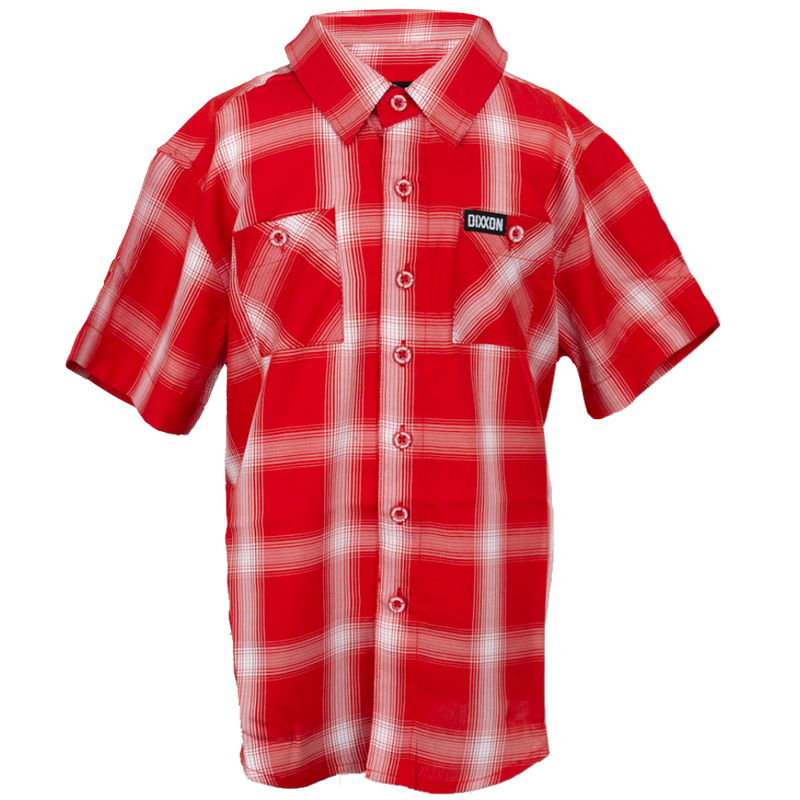 THIRD ST BAMBOO SHORT SLEEVE BUTTON UP - YOUTH