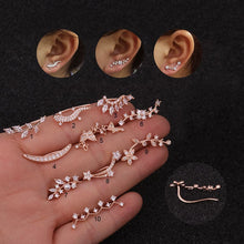 Load image into Gallery viewer, 1PC Cartilage Earring Helix Piercing Jewelry Plant Ear Crawlers