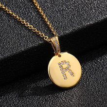 Load image into Gallery viewer, 14k Alphabet pendant necklace