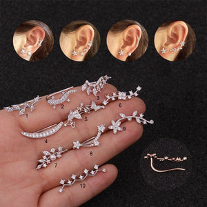 1PC Cartilage Earring Helix Piercing Jewelry Plant Ear Crawlers