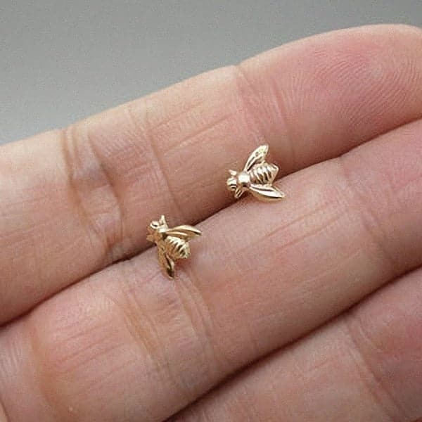 Tiny Honey Bee Ear studs