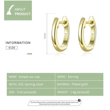 Load image into Gallery viewer, Tiny hoop earrings for women gold Color 925 Sterling Silver Jewelry