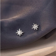 Load image into Gallery viewer, Sterling Silver Polar star earrings
