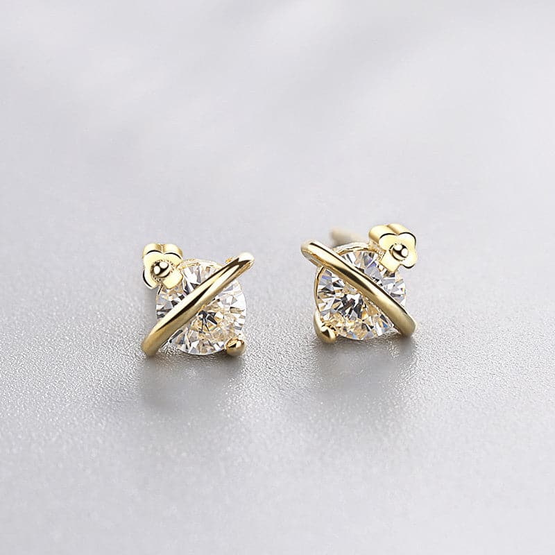 Over the moon pave earrings