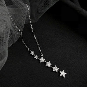 Dazzling Cubic Star Pendant Necklace