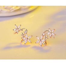 Load image into Gallery viewer, Floral Flower Studs Earrings