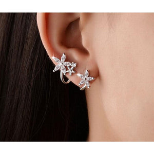 Floral Flower Studs Earrings