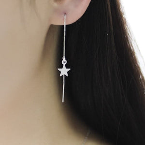 Long Star Tassel Earring