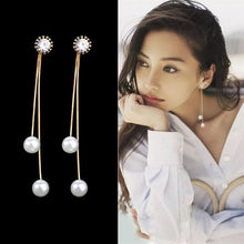 Load image into Gallery viewer, Celestial drop pearl tassel Earring