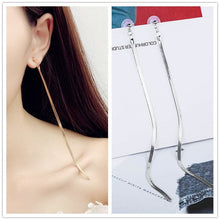 Load image into Gallery viewer, Simple metal chain earrings