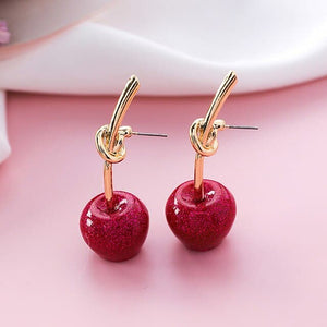 Cherry Knot Earring