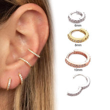 Load image into Gallery viewer, Huggie Hoop Earring (with Hinge)
