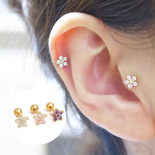 Flower Cartilage Barbell