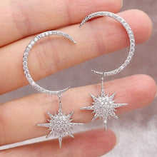Load image into Gallery viewer, Celestial Moon  & Star burst earring