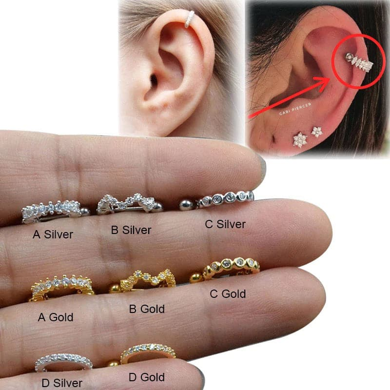 Sparkle Hoop Cartilage Barbell