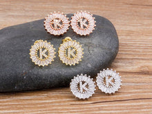 Load image into Gallery viewer, 24 Alphabet Starburst Earrings