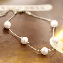 Load image into Gallery viewer, Pearl Charm Link Bracelets