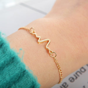 Heart Beat Chain Bracelet